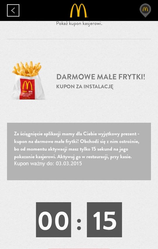 Darmowe frytki z McDonalds