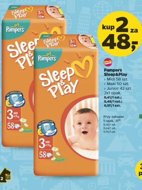 Pieluszki Pampers Sleep&Play - 2 opakowania za 48zł @ Netto