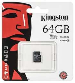 Karta pamięci KINGSTON microSDXC SDC10G2/64GBSP, 64GB, Class 10, UHS-I