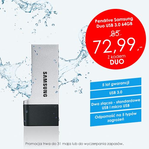 Pendrive Samsung Duo (USB 3.0, 64GB) za 72,99zł @ Sferis