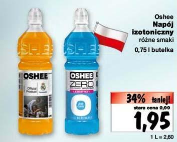 Oshee 0,75 l - napój izotoniczny za 1,95 zł @ Kaufland