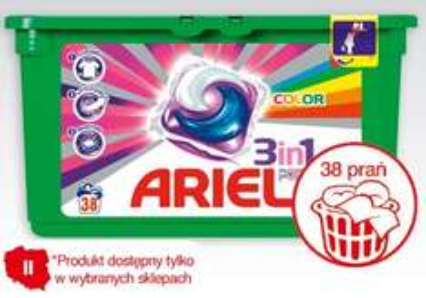 Kapsułki do prania Ariel 38szt za 28,99 w Biedronce przy 2 pudełkach 27,99 i Lenor za 1zł