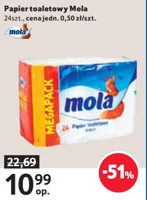 Jeszcze tańsze tanie wycieranie (papier toaletowy Mola 24 rolki) @ Tesco