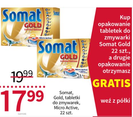 Tabletki Somat Gold za 17,99zł + drugie opakowanie gratis @ Rossmann