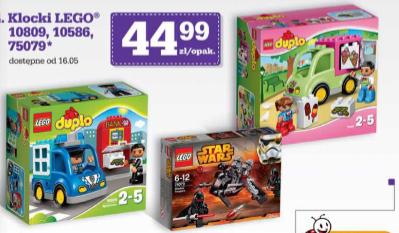 Klocki LEGO: 10809, 10586, 75079 w dobrej cenie 44,99zł @ Biedronka