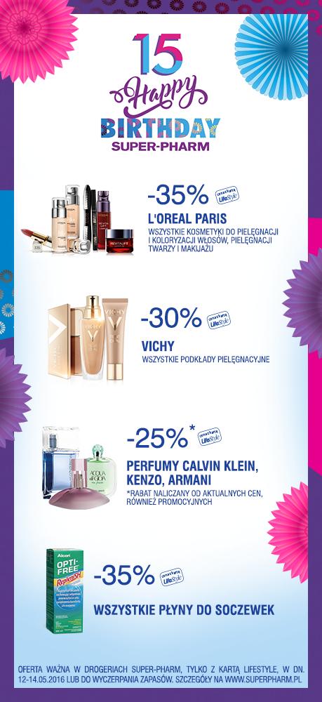 Produkty Loreal -35%, Vichy -30%, wybrane perfumy -25%, płyny do soczewek -35% @ Super-Pharm (klub Life Style)