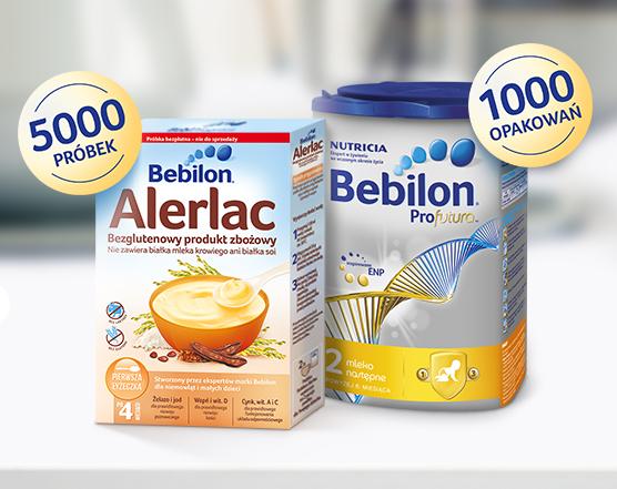Bezpłatne próbki mleka Bebilon i kaszki bezglutenowej