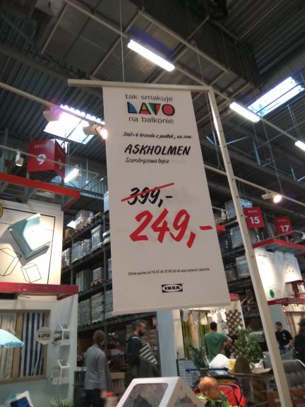 ASKHOLMEN Stół+4 krzesła+15% na kartę IKEA
