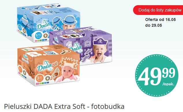 Pieluszki Dada Extra Soft za 49,99zł + gadżety do zabawy @ Biedronka