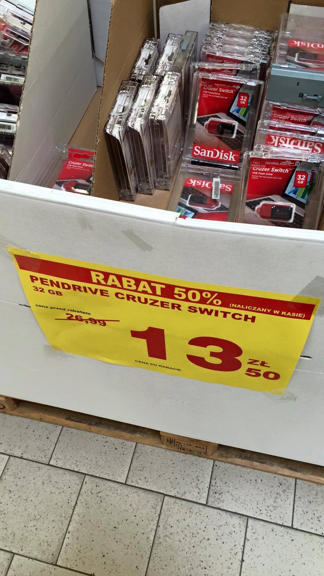 Pendrive USB 2.0 SanDisk Cruzer Switch 32GB @ Auchan (Warszawa)