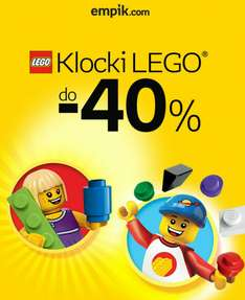Empik do - 40% na klocki Lego