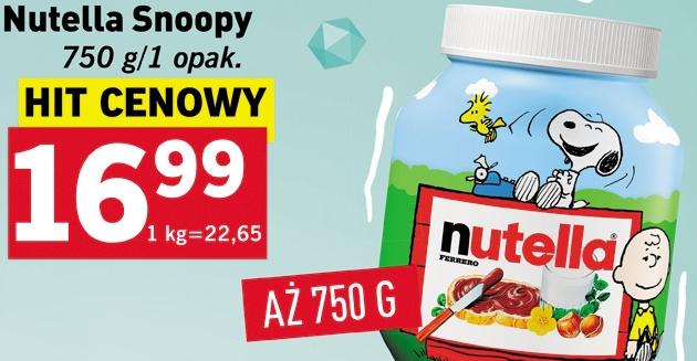 Nutella Snoopy 750g za 16,99zł @ Lidl