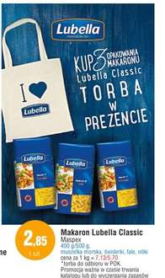 Torba GRATIS przy zakupie makaronu Lubella @ E.Leclerc