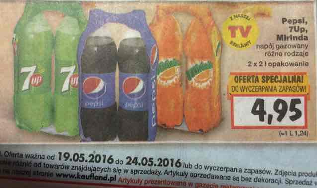 Pepsi i jej kolezanki - 2x2L /Kaufland 1L - 1,24zl
