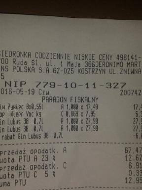 Gin Lubuski 2 x 0,7L  @Biedronka
