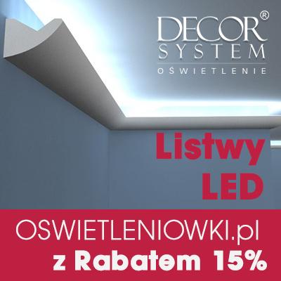 15% Rabatu na listwy oświetleniowe LED na OSWIETLENIOWKI.pl z kodem: decor15