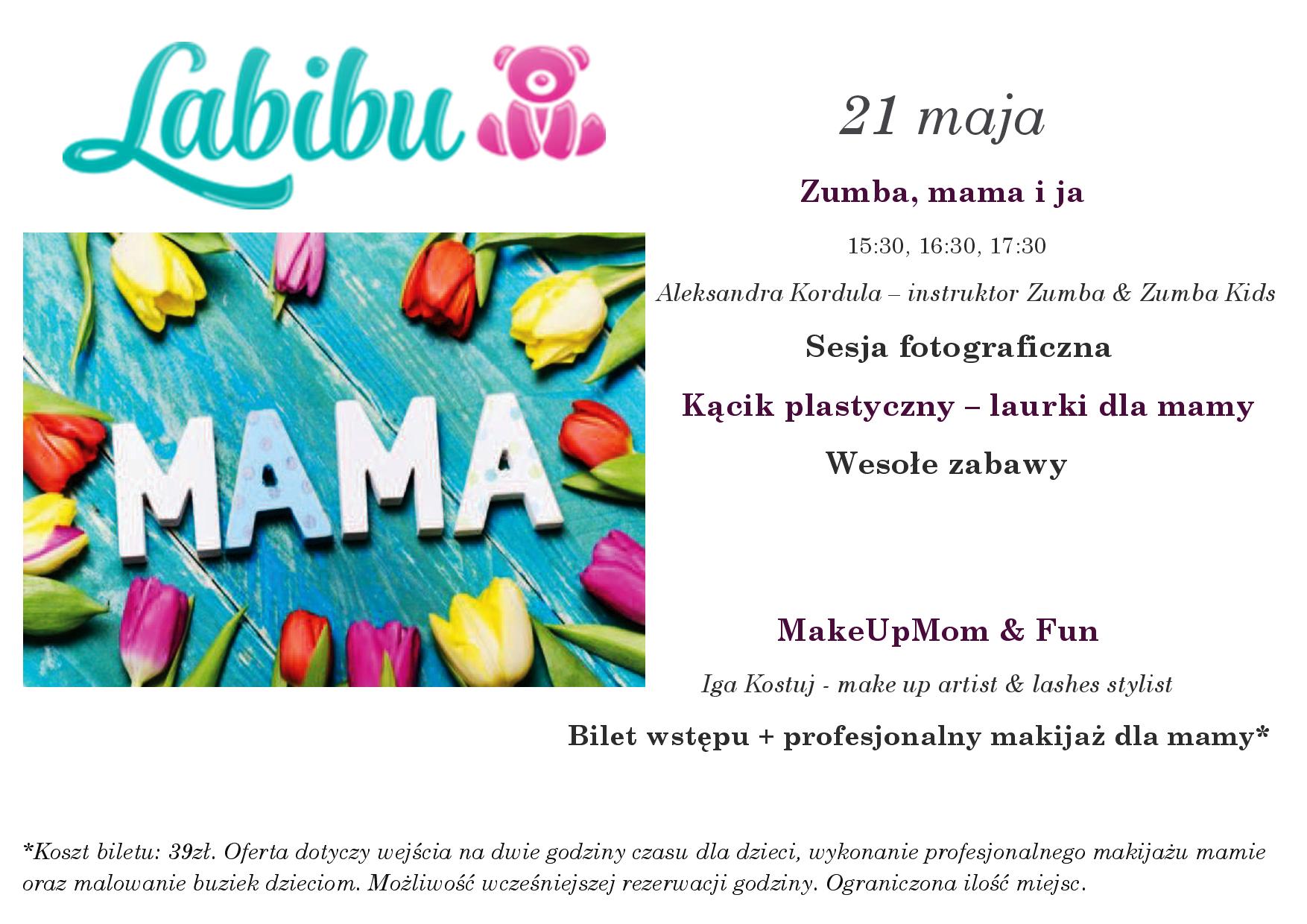 Profesjonalny makijaż dla mamy, malowanie buzi dzieciom oraz 2h zabawy na sali @ Labibu (Wrocław)