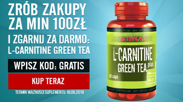 Activlab - L-Carnitine Green Tea 60kaps gratis