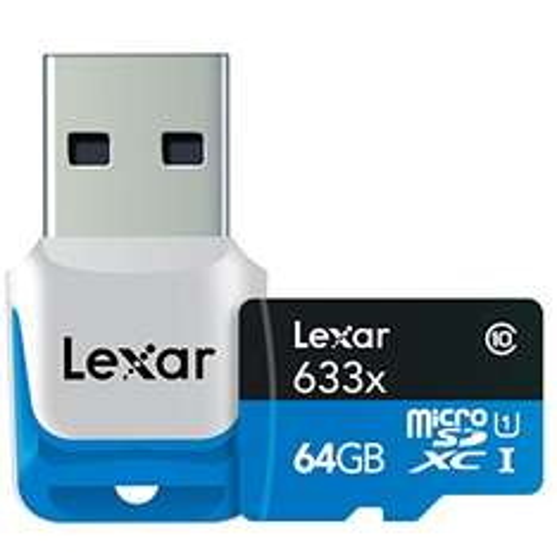MicroSDXC Lexar Professional 64GB + adapter USB 3.0 za ok. 93zł @ Amazon.de