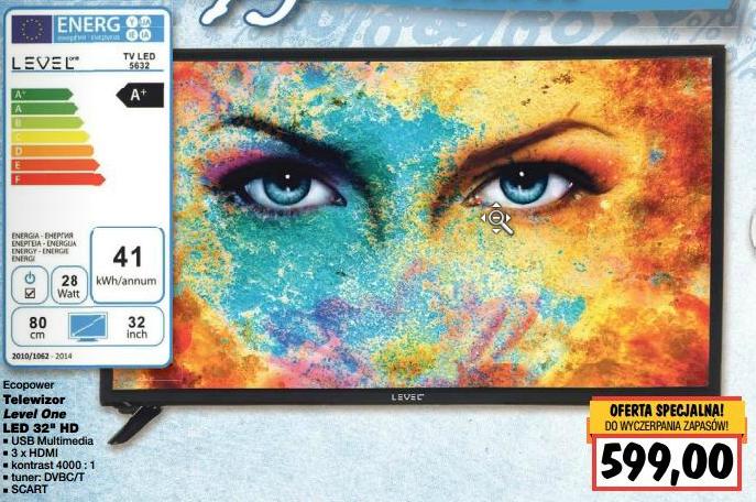 "Telewizor Level One za 599zł (32"", HD) @ Kaufland"