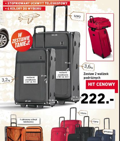 Dwie walizki podróżne: 70 i 103l za 222zł @ Lidl