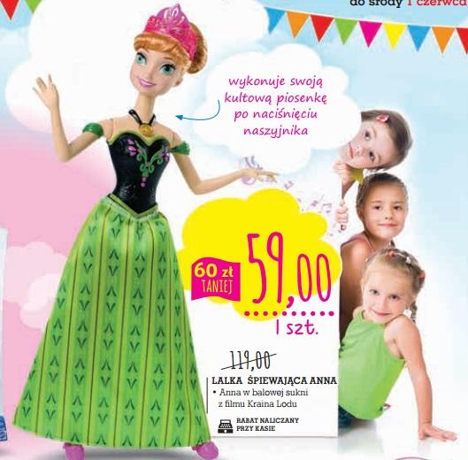 """Anna - lalka śpiewająca z bajki """"Kraina Lodu"""" za 59zł @ Intermarche"""