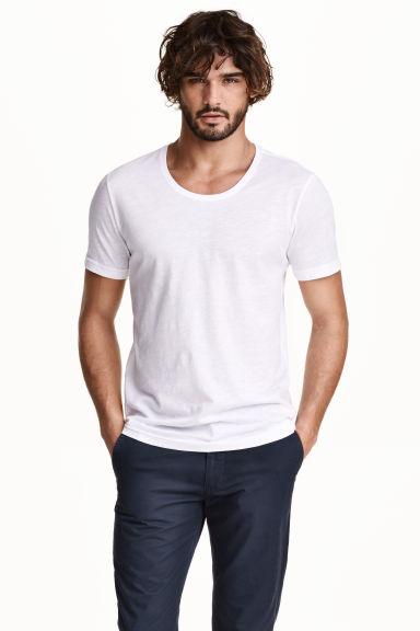 Bawełniany T-shirt H&M męski - biały