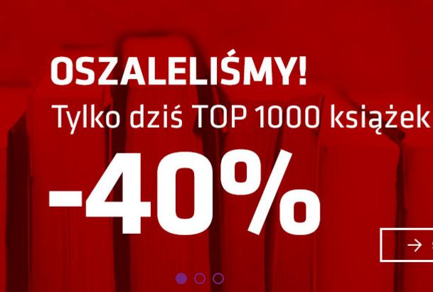-40% na TOP 1000 książek w matras.pl (do północy)