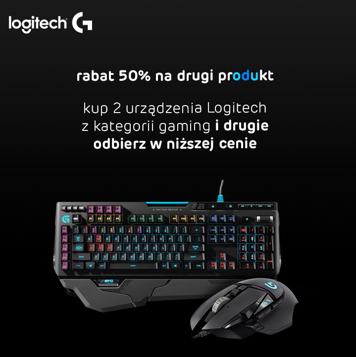 50% taniej drugi produkt LOGITECH w X-kom