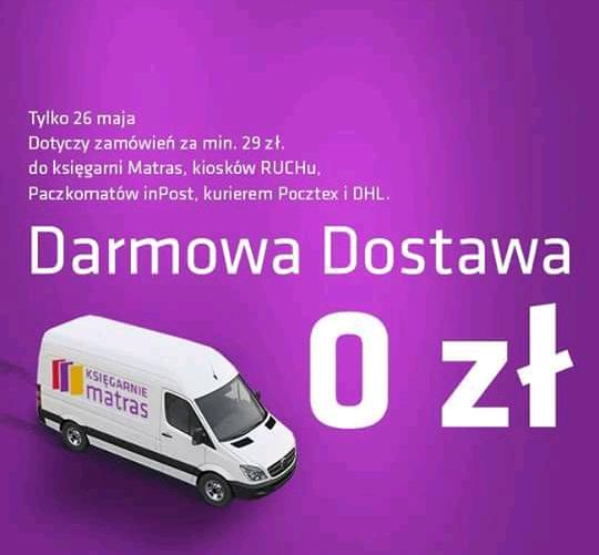 Darmowa dostawa tylko dziś od 29zł na matras.pl
