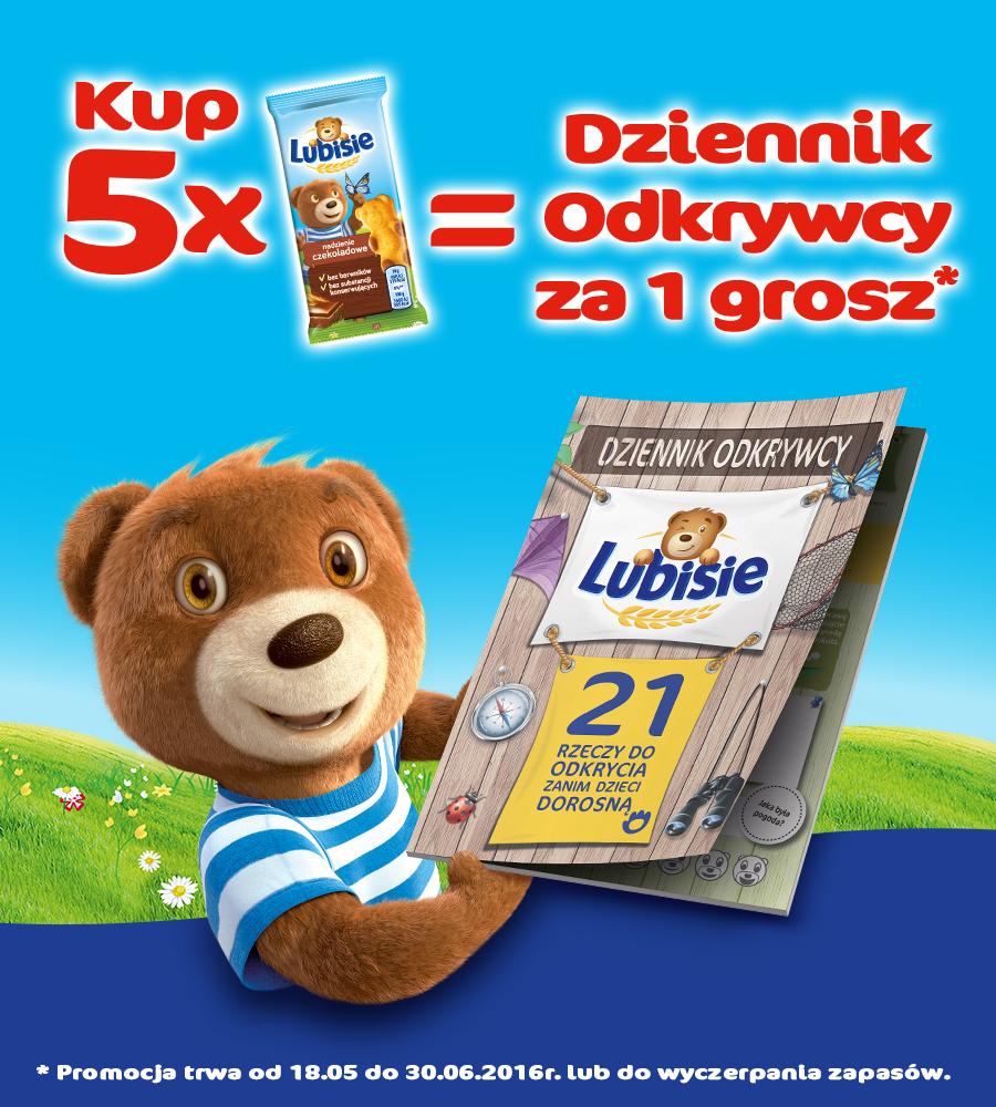 5x Lubisie => Dziennik Odkrywcy za 1 grosz @ Auchan Carrefour