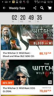 Gry na G2A od 30 do 70% taniej. Witcher, MK X itd