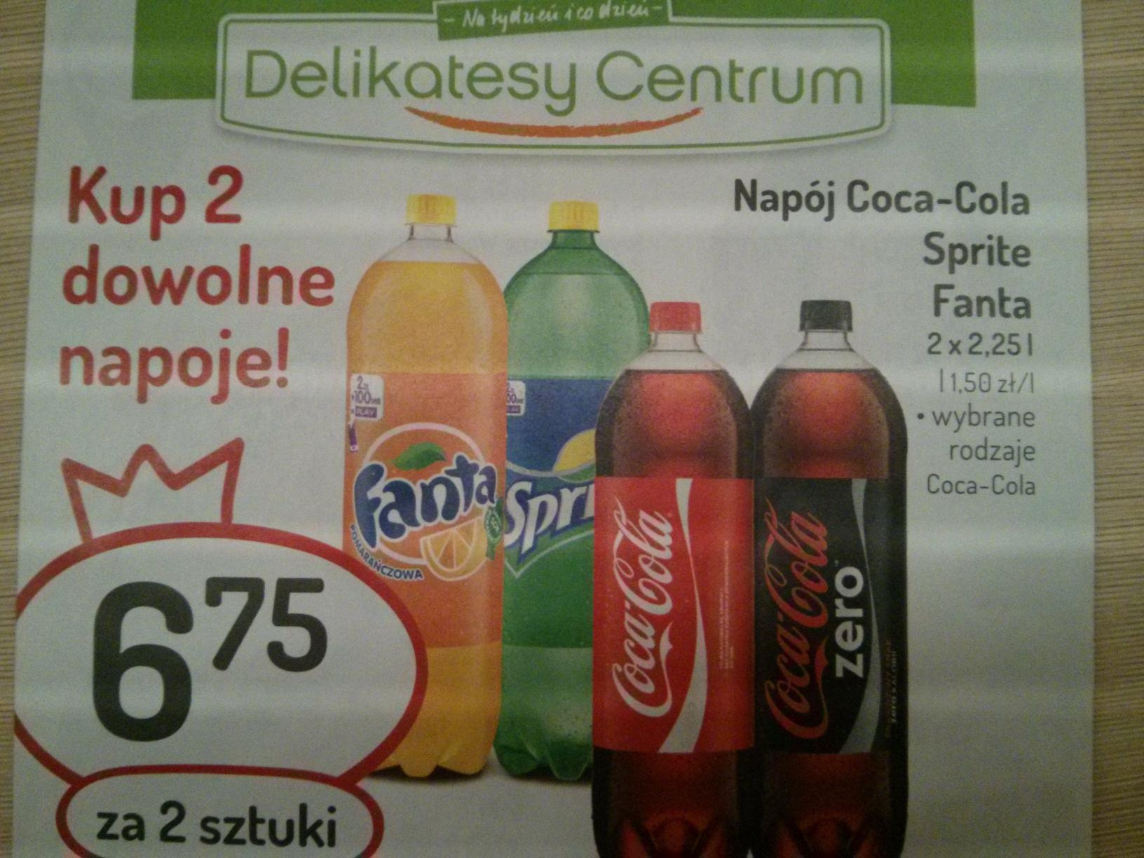 2x2,25l Coca-Cola, Fanta, Sprite @ Delikatesy Centrum