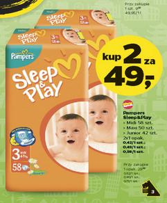 Pieluszki Pampers Sleep&Play - 2 opakowania za 49zł @ Netto