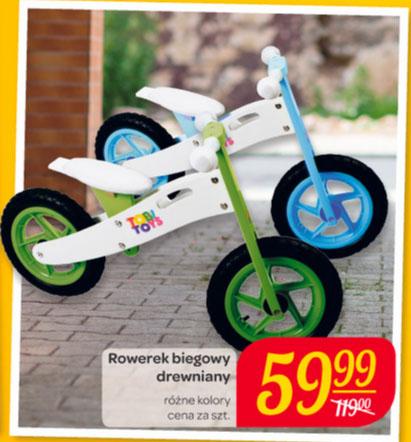 Rowerek biegowy drewniany Tobi Toys za 59,99 zł w Carrefour