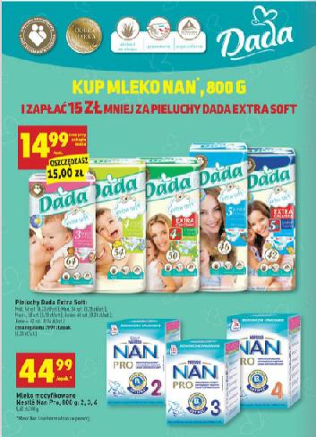 15zł rabatu na pieluszki Dada przy zakupie mleka NAN @ Biedronka