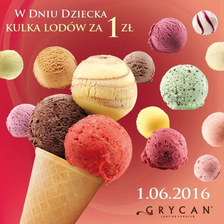 Gałka lodów Grycan za 1 zł w dzień dziecka :)