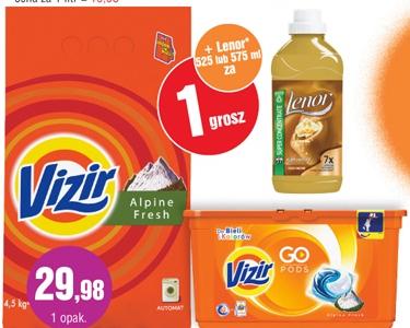 Lenor za 1gr przy zakupie produktów do prania Vizir (proszek lub kapsułki) @ E.Leclerc