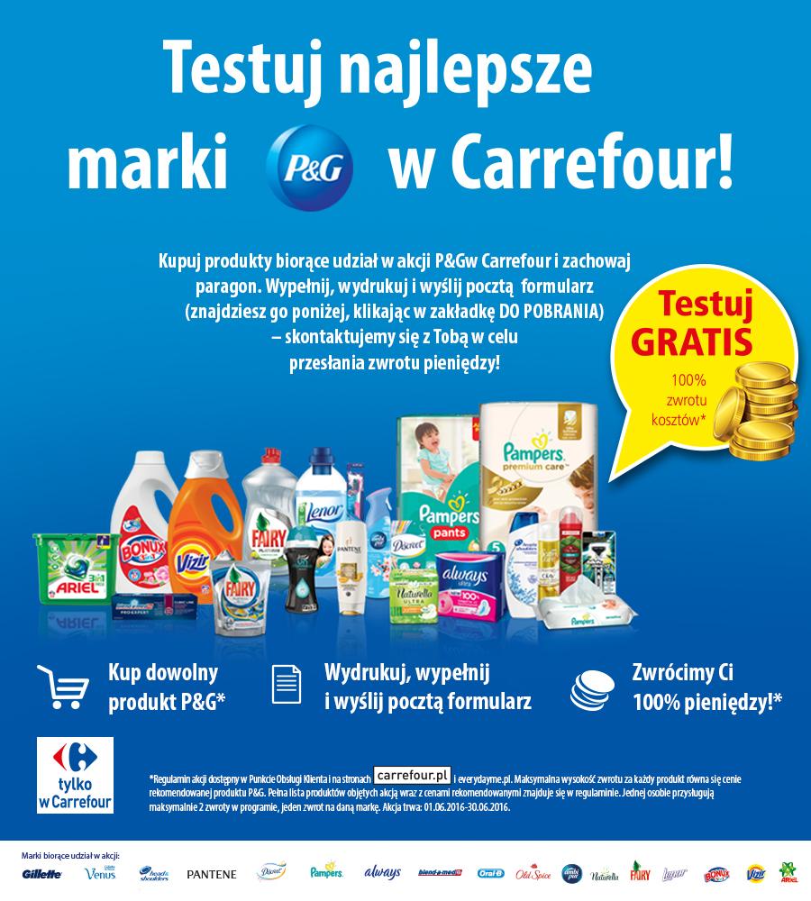 Testuj produkty P&G z Carrefour
