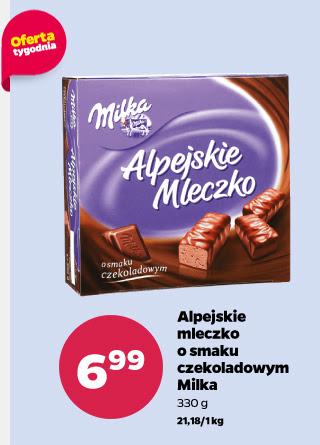 Milka - Alpejskie Mleczko (330g, o smaku czekoladowym) za 6,99zł @ Netto