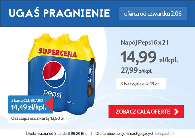 TESCO - 12l Pepsi za 15zł