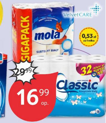 32 rolki papieru toaletowego Mola Classic za 16,99zł @ Tesco