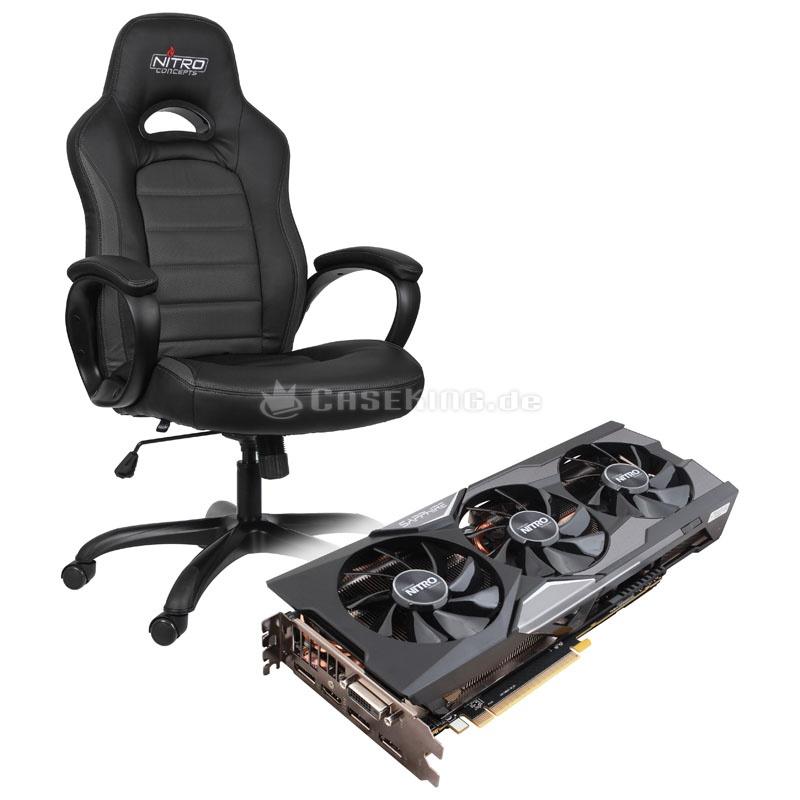 Sapphire Radeon R9 Fury Nitro i gratis krzesło Nitro C80 Pure Gaming @caseking.de
