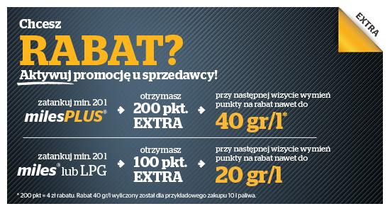Rabat na paliwo za punkty w programie Extra @Statoil