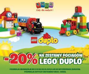 -20% na zestawy pociągów Lego Duplo @ SMYK