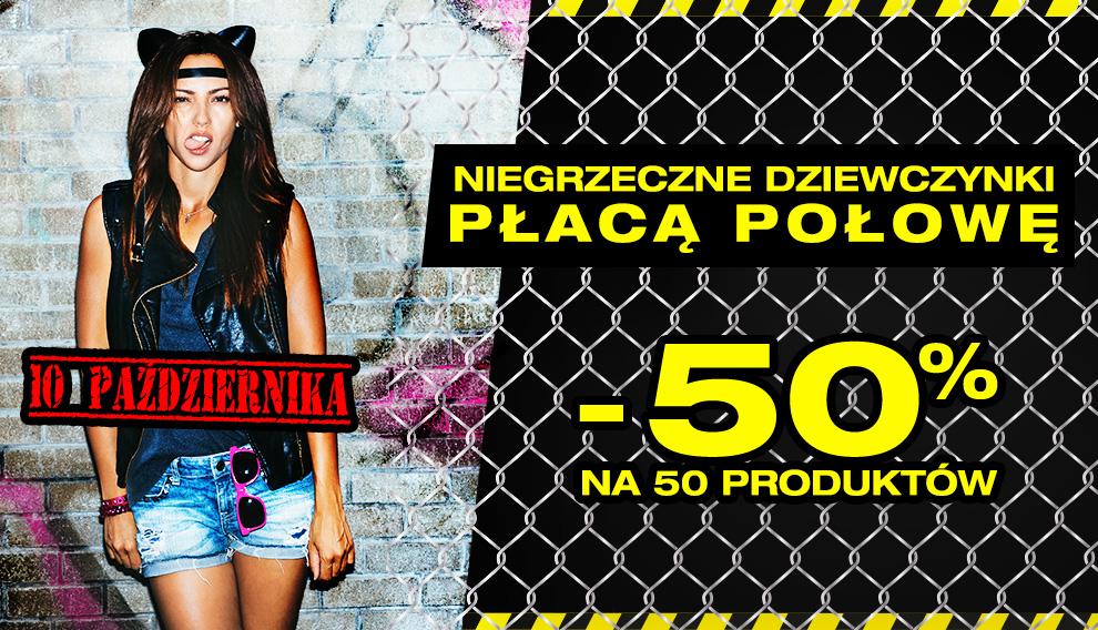 50% rabatu na 50 produktów tylko DZISIAJ @ Butik