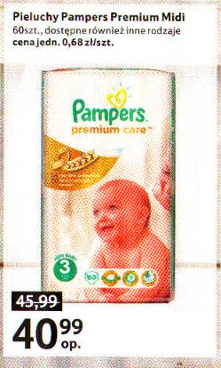 Pieluszki Pampers Premium Care za 40,99zł @ Tesco