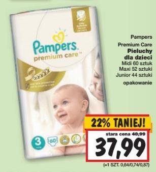 Pieluszki Pampers Premium Care za 37,99zł @ Kaufland