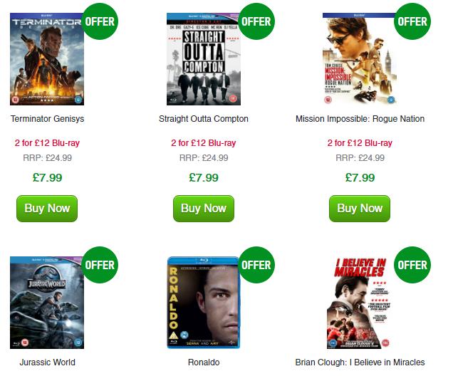 2 filmy Blu-ray za 67zł (Terminator Genisys, Ted 2, Jurassic World) @ Zavvi