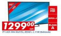 "Telewizor Manta 50"" (Full HD, LED) za 1299zł @ Auchan"
